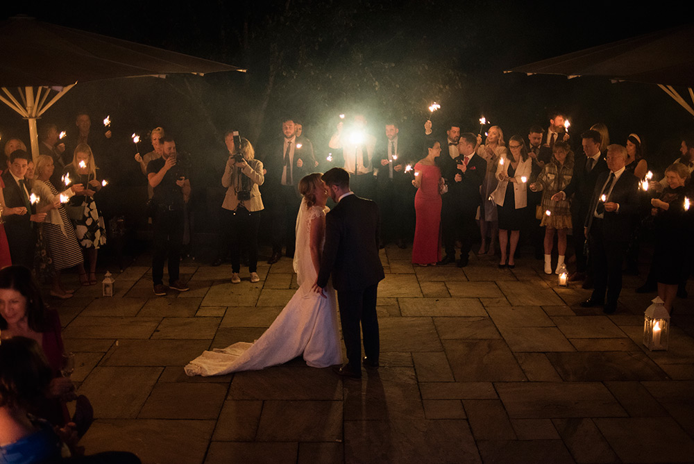 outdoor first dance at wedding at bellinter house