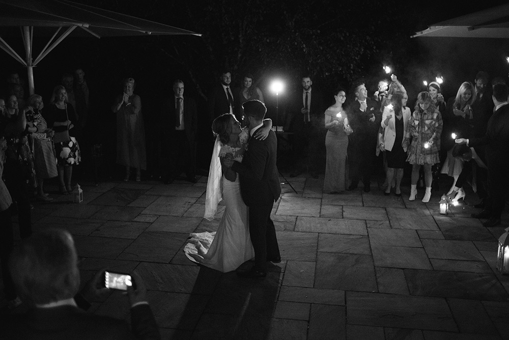 first dance outside at wedding at bellinter house