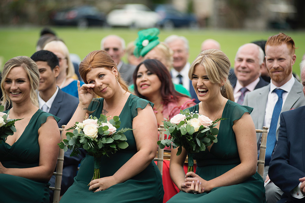 bridesmaids at bellinter house wedding