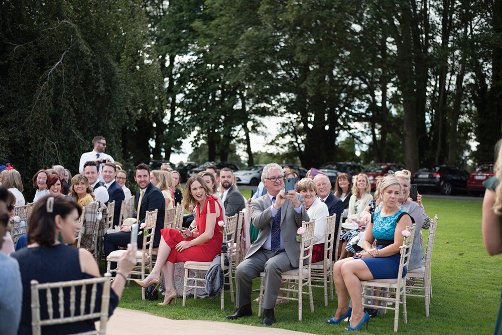 wedding guests at bellinter house wedding