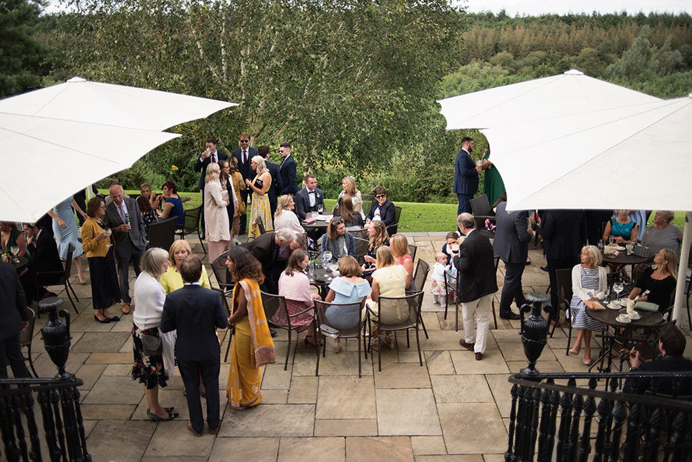 outdoor drinks reception at bellinter house wedding