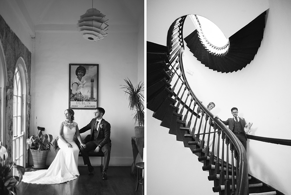 staircase at wedding at bellinter house wedding