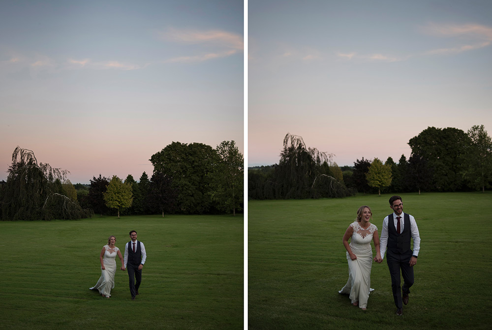 sunset wedding at bellinter house wedding