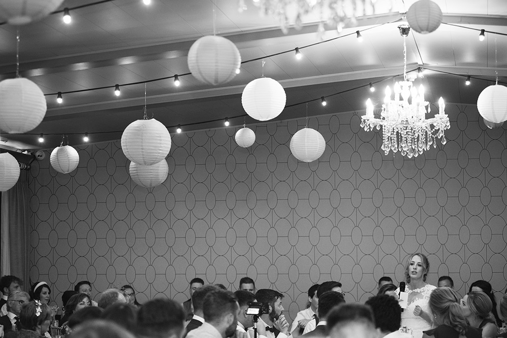 bride doing speech at wedding at bellinter house wedding