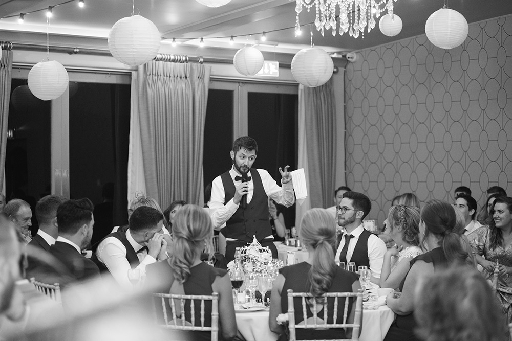 grooms speech wedding at bellinter house wedding