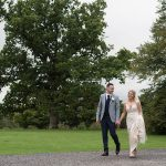 bride and groom with huge tree at rathsallagh wedding