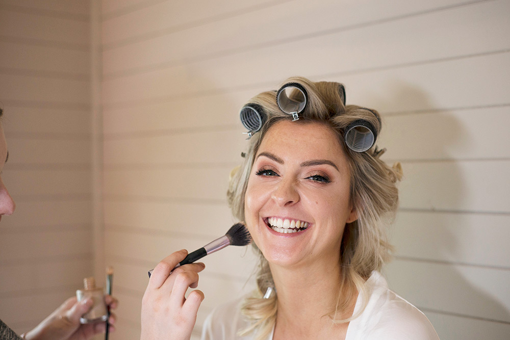 bride getting ready at rathsallagh house wedding
