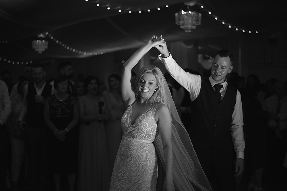 bride and groom first dance rathsallagh house hotel
