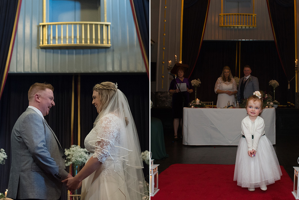 exchange of vows at langtons hotel kilkenny