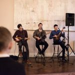 kooky ukes play at cliff townhouse wedding