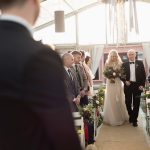 bride walks down the aisle at coolbaun quay wedding ceremony