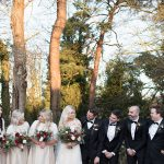 bridesmaids and groomsmen at coolbaun quay winter wedding