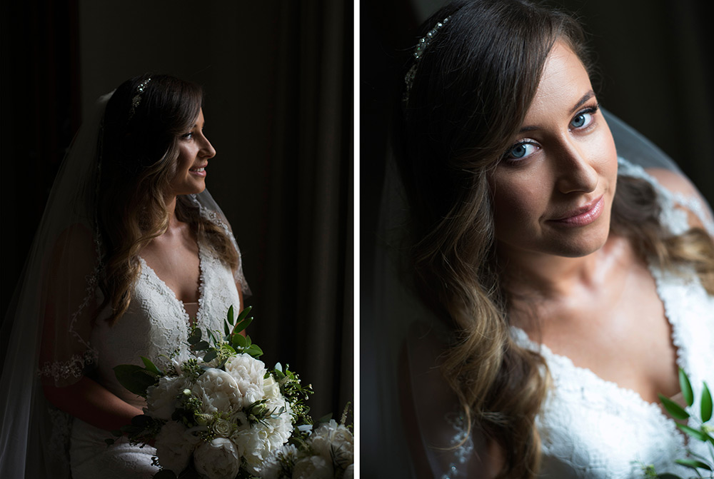bridal portrait druids glen wedding