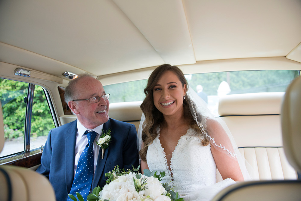 bride arriving at kilquade church wicklow