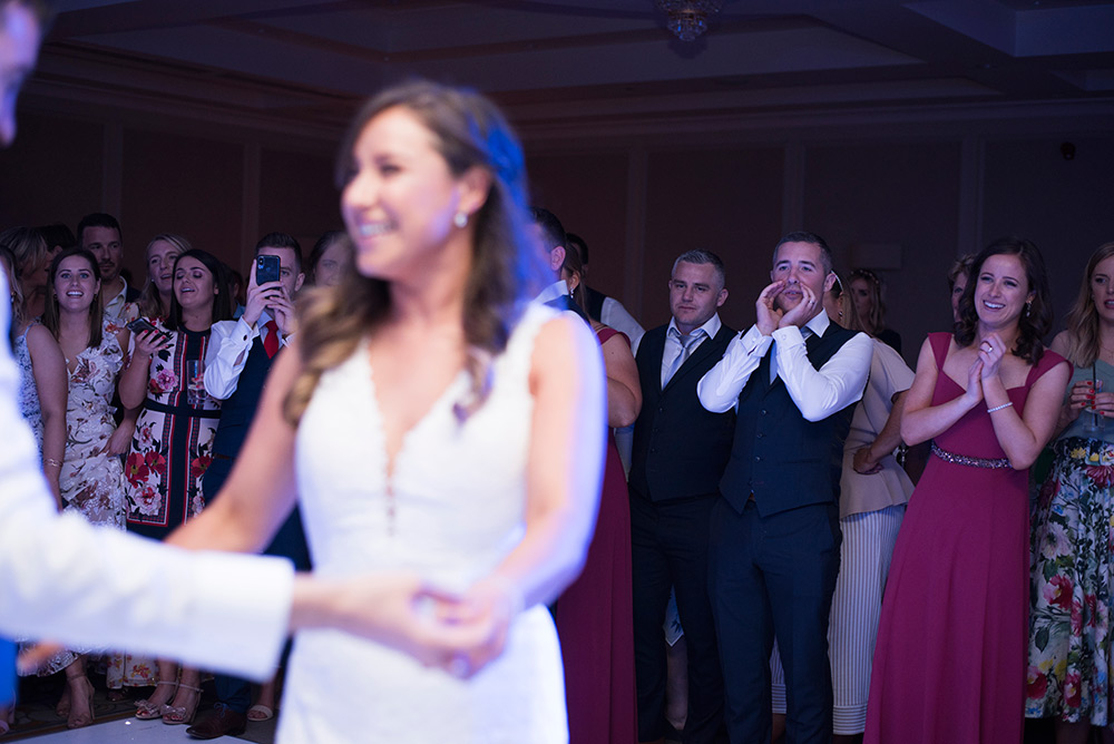 first dance photos at summer wedding at druids glen