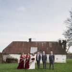 wedding party at bective abbey for their wedding photos