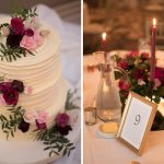 wedding cake and table decoration at headfort arms hotel