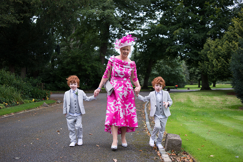 kids enjoying a wedding at luttrellstown castle during covid