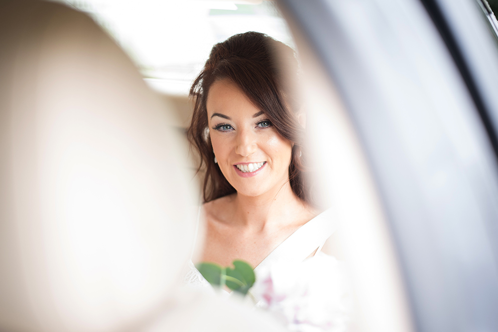 bride arriving at wedding at luttrellstown castle