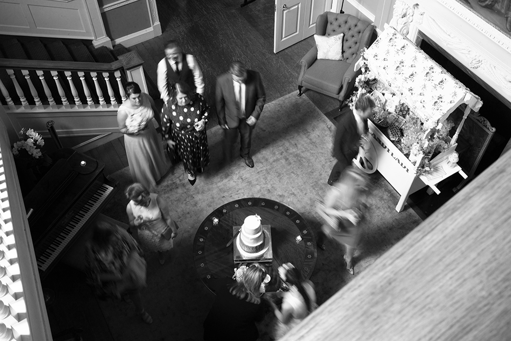 guests at wedding at luttrellstown castle during covid