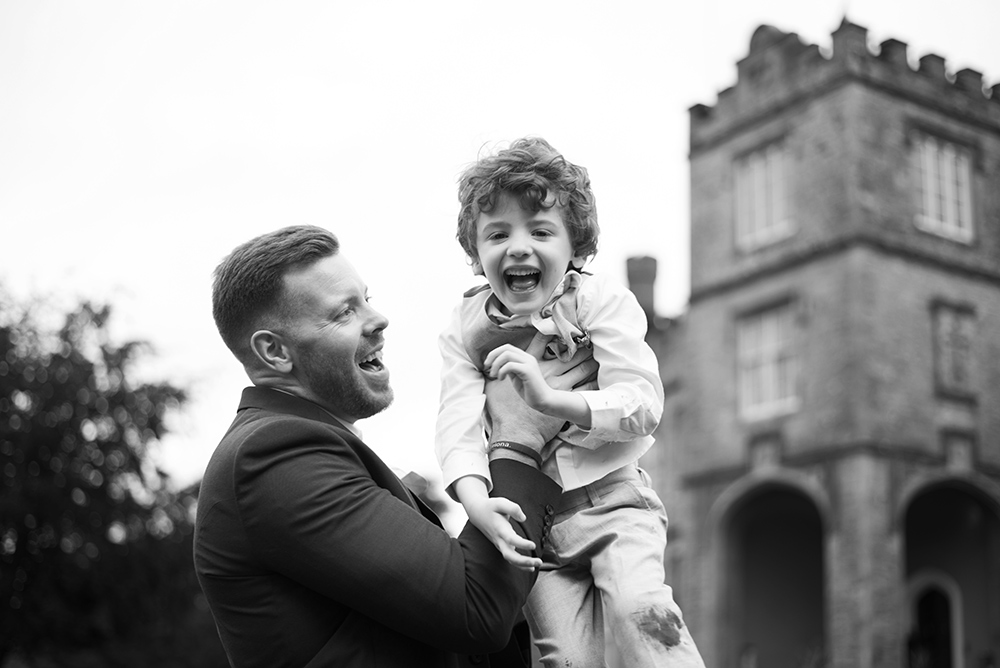 candid photos at luttrellstown castle wedding during covid