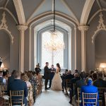 wedding ceremony at luttrellstown castle