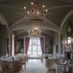 the dining hall at luttrellstown castle wedding