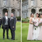bridesmaids and groomsmen photos at luttrellstown castle wedding