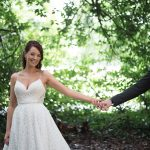 bride and groom romantic photos at luttrellstown castle wedding