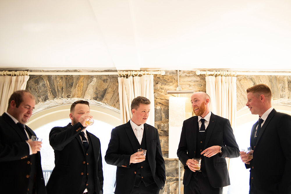groomsmen at wedding at farnham estate cavan