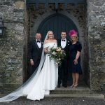 family photo Kilkea Castle Wedding