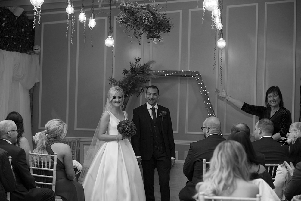 just married at boyne hill house estate