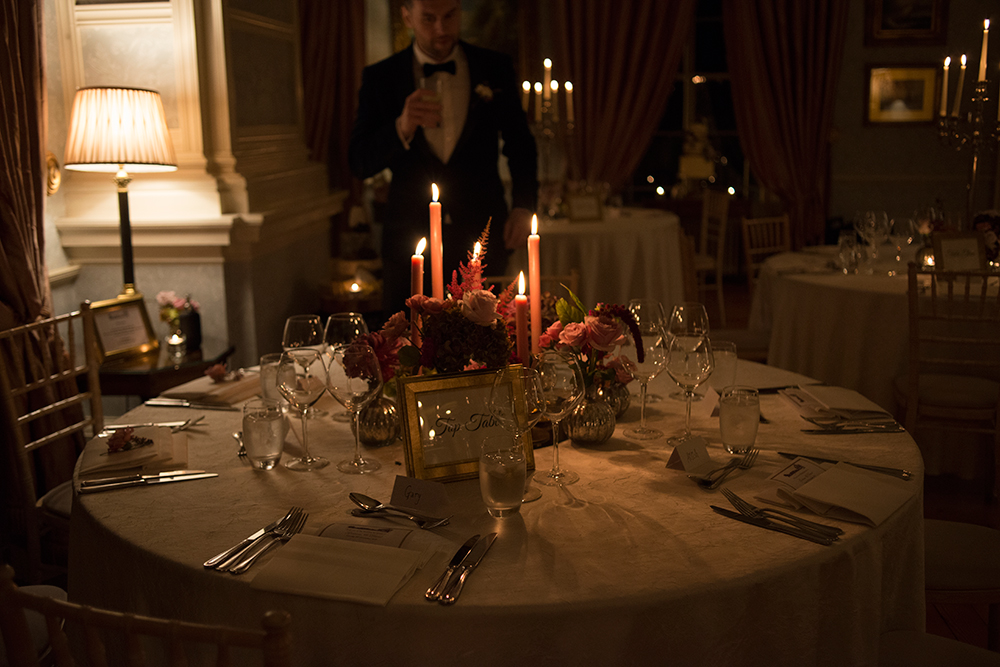 table decor at tankardstown house