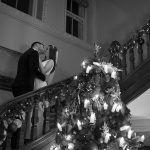 staircase photo at wedding at tankardstown house