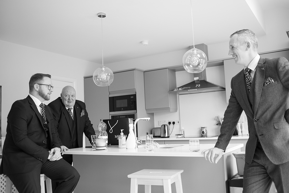 groomsmen getting ready at home in Swords