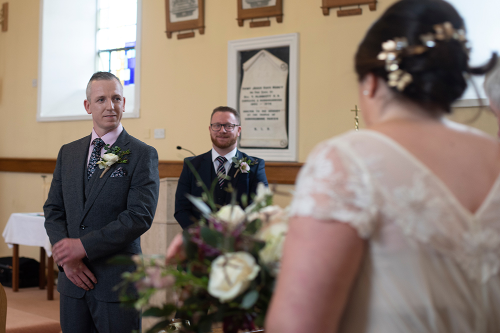 first look at wedding in Dublin