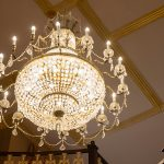The chandelier at wedding at Killashee House Hotel
