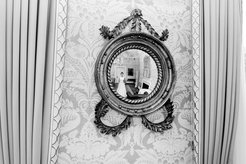 mirror reflections at wedding at Shelbourne Hotel