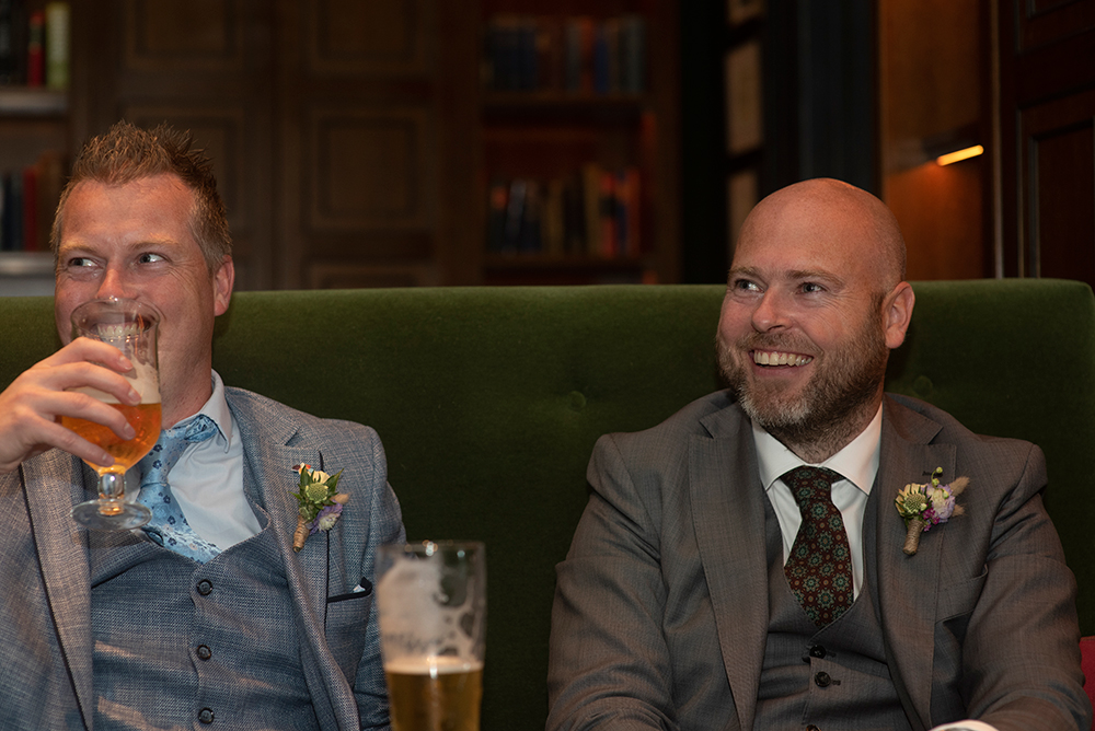 groom and bestman at wedding at the Shelbourne Hotel