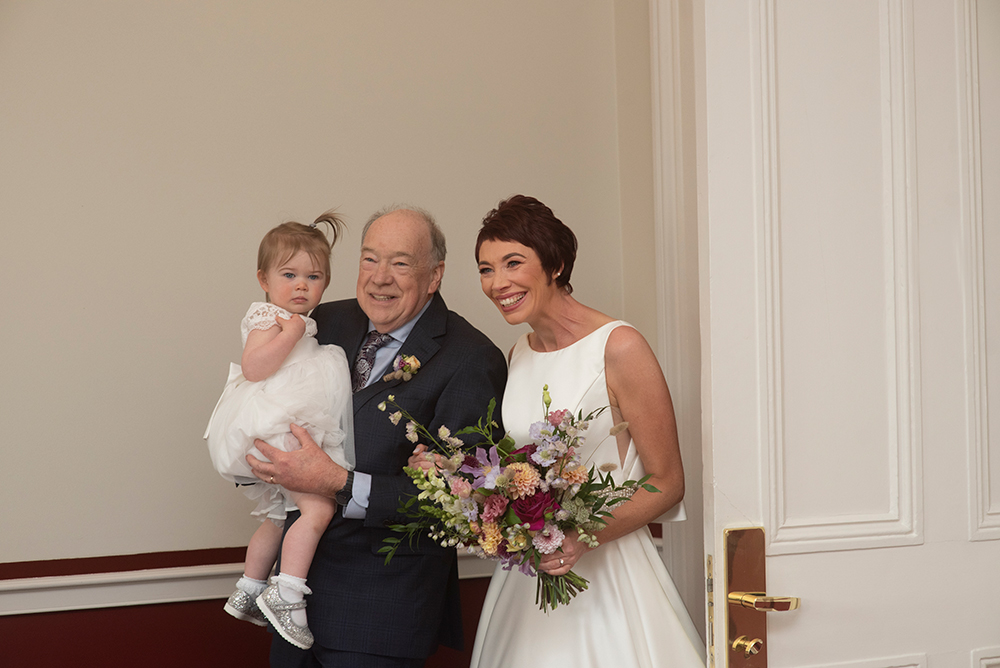 humanist ceremony at wedding at the Shelbourne Hotel