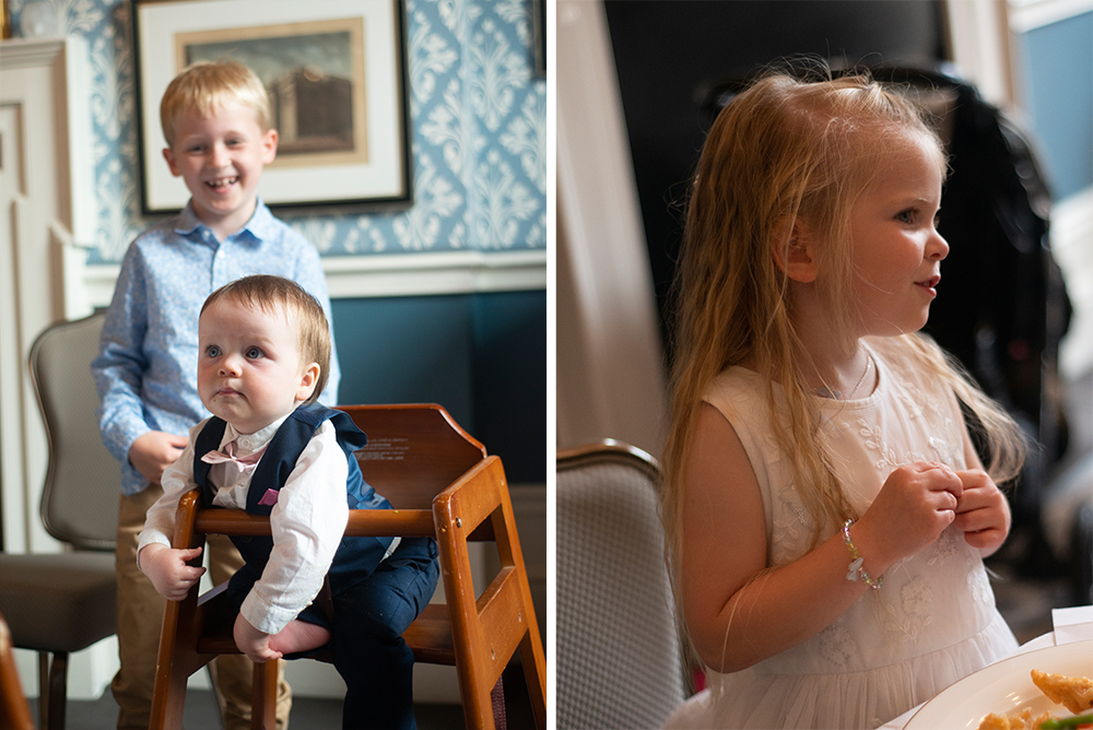 kids at wedding at the Shelbourne Hotel