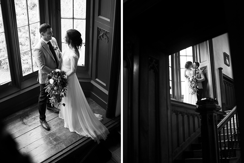 staircase photos at wells house wedding