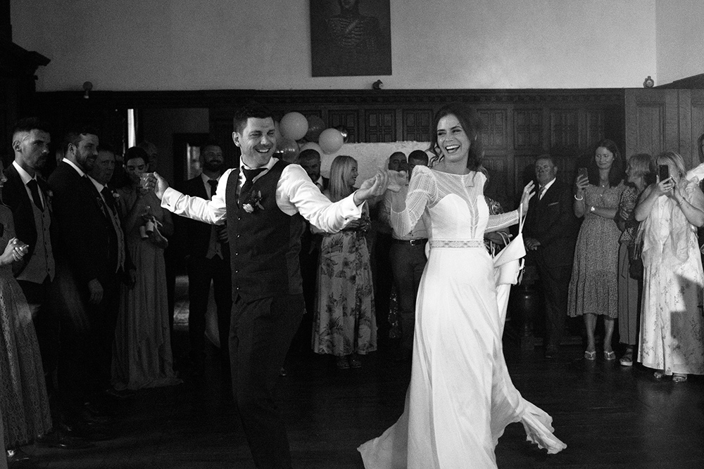 first dance at wedding at wells house & gardens