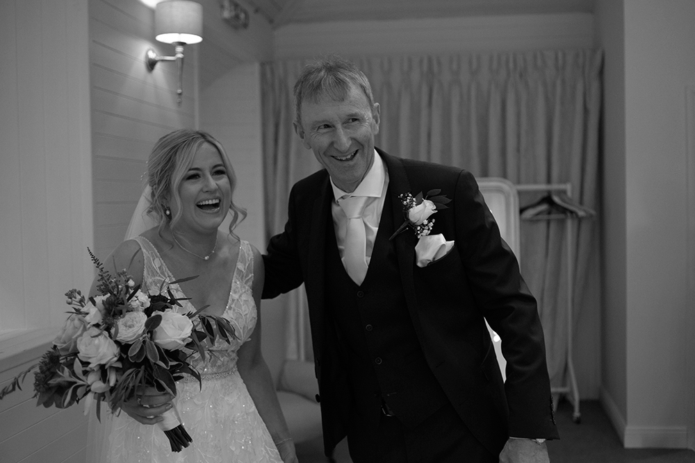 first look with dad at Rathsallagh House