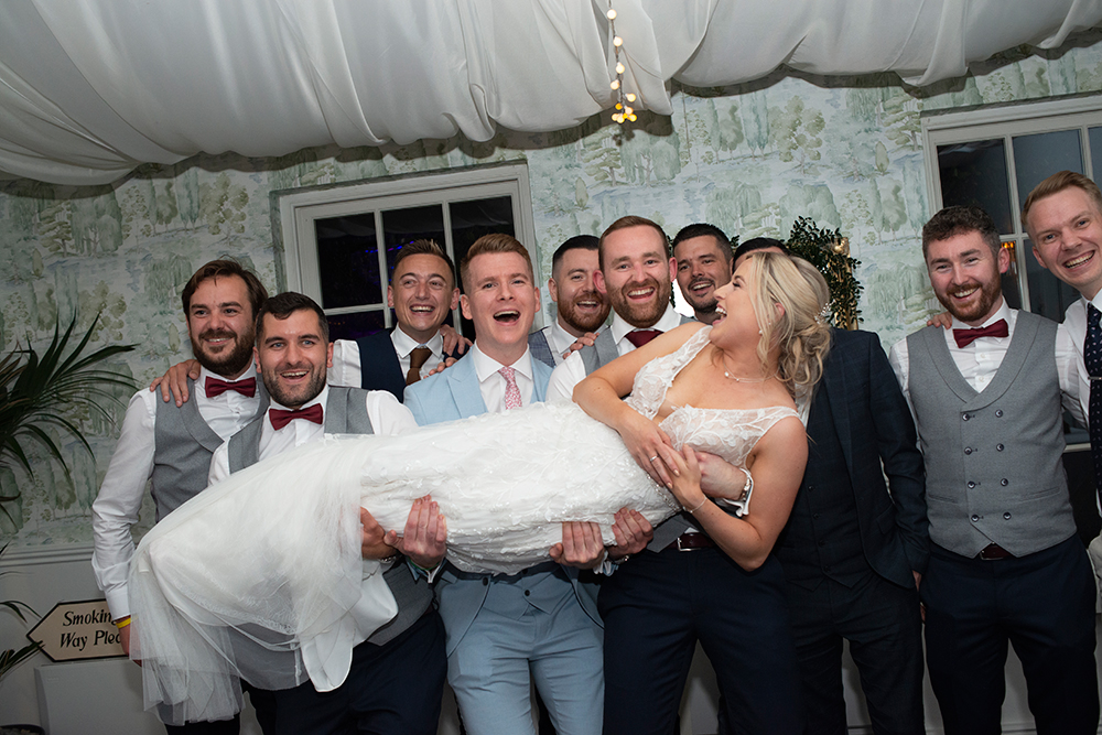 lads at drinks reception at rathsallagh house wedding