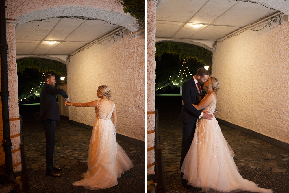 outdoor nighttime photos at Rathsallagh House in Wicklow
